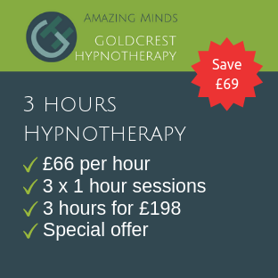 3 hours hypnotherapy treatment package special offer