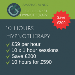 10 hours hypnotherapy package price - Goldcrest Hypnotherapy